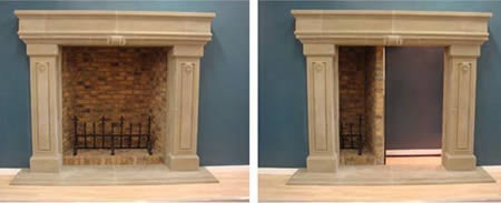 7Fire Place Hidden Door