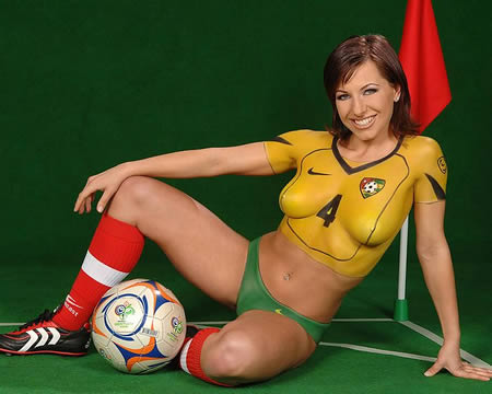 Realize, what asian soccer body paint