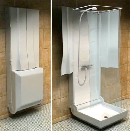 This Folding Shower, Is A Concept By French Company Supiot And It Is  Currently Looking For A Manufacturer And A Distributor. It Has A Unique  Design Thatu0027s ...