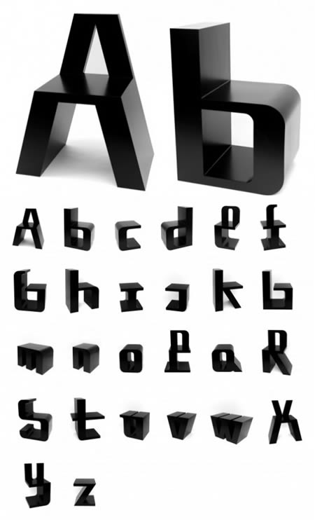 Designed By Graphic Designer Roeland Otten, Each Chair Represents A Letter  Of The Alphabet. The Chair Is An Alphabet To Sit On And A Series Of Chairs  To ...