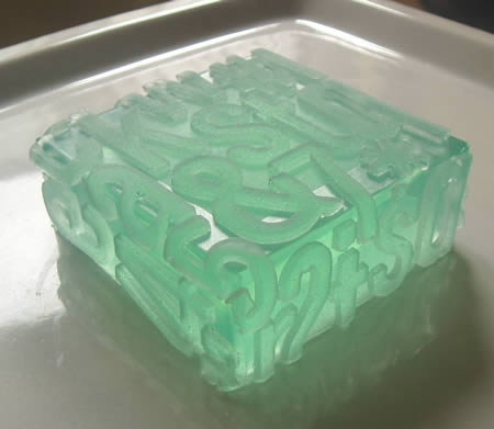 The Typography Soap Has Raised Letters That Wrap Around All Sides Beauty Of Silicone And Is Scented With Crushed Peppermint