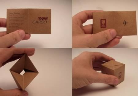 10 of the best business cards best business cards oddee transforming the traditional business card in a funny and unusual object like this little box of transporting cargo air for brazilian company tam cargo colourmoves