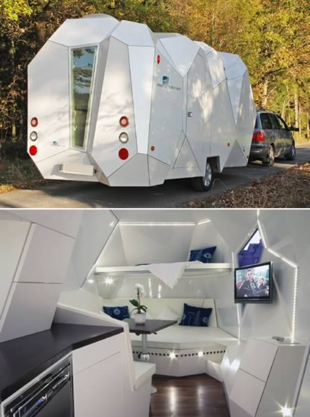 unusual tiny rvs. Dreadin  that next family road trip to Yosemite in the station wagon pulling old camper behind you Well wouldn t be if your parents hit up 10 Coolest Travel Trailers travel trailers Oddee