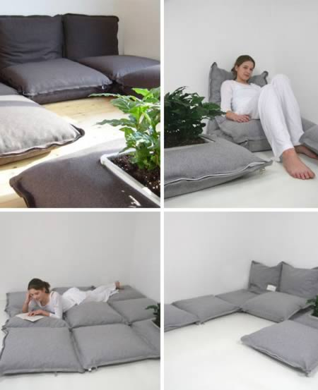 Zippered Floor Pillows : 10 Coolest Floor Pillows - floor pillows, cool pillows - Oddee