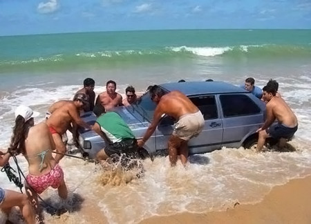 This car wanted a bath too.