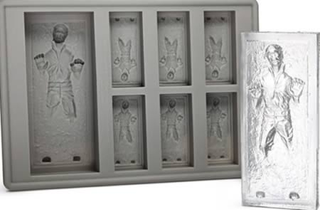 2Han Solo In Carbonite Ice Cube Tray