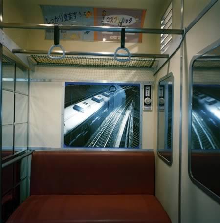 Subway car themed room