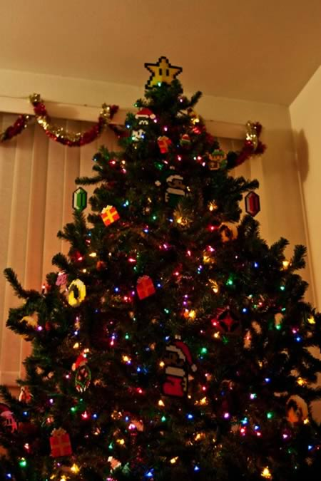 2super mario christmas tree