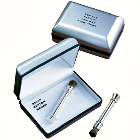 do you know someone who always has food in his lets face it its almost always a guy belly button well the belly button brush is the gift for the man - Christmas Gifts For The Man Who Has Everything