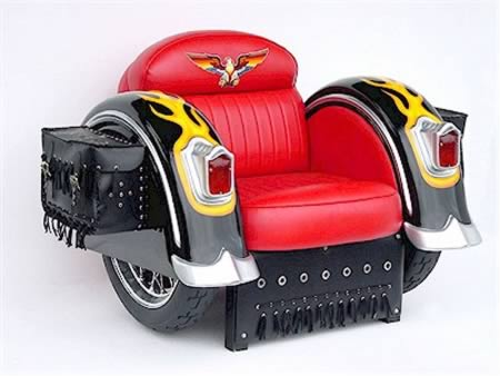 The Harley-Davidson Armchair is probably the manliest chair ever made. The price tag? 1899.99. & 10 Coolest Armchairs - Oddee