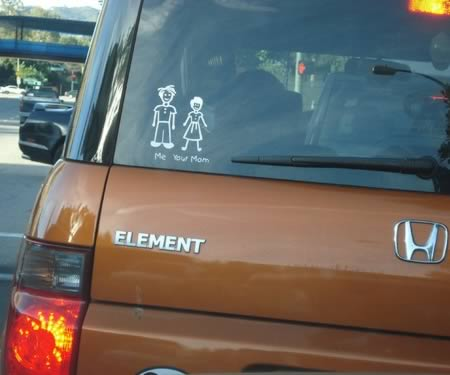 12 hilarious family car stickers