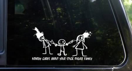2013 free shipping, DIY Die cut family car sticker/auto stickers/car  decorative