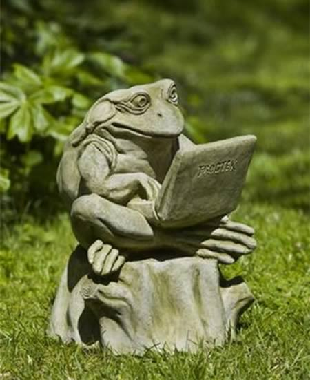 Marvelous Blogger Frog Garden Statue By Campagnia.
