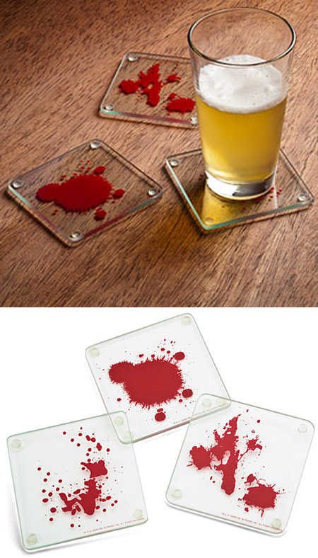 3dexter blood spattered coasters - Cool Coasters