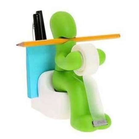 This cute tape and pencil holder is sure to make you laugh at work!