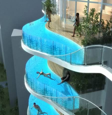 Architects have made a splash with a bold design for new towers in Mumbai  featuring swimming pools enclosed in glass instead of balconies 10 Most Amazing Balconies   cool balconies  amazing balconies   Oddee. Most Beautiful Architecture In India. Home Design Ideas