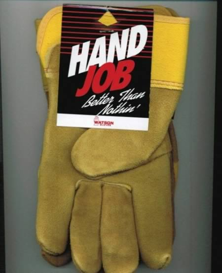 funny hand gag gifts job names gift diy jobs gloves nothing quotes christmas hilarious joke name hilariously weird honest homemade