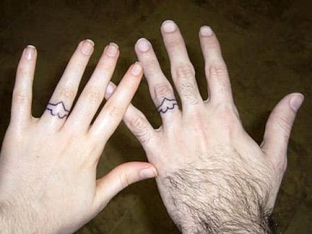12 Coolest Wedding Ring Tattoo Designs Oddee