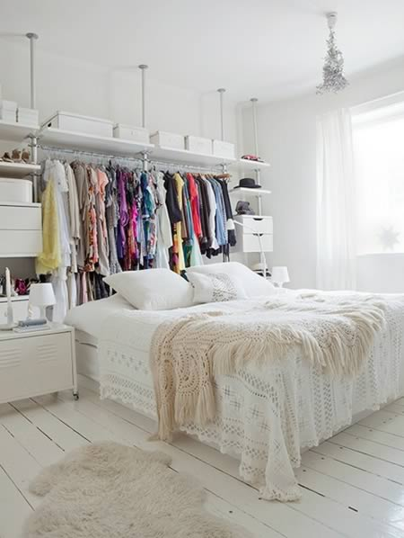 Delicieux If You Lack Space But Not Creativity, This Headboard Closet Is An Amazing  Idea.