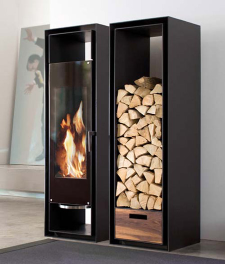 These Built In Cabinets Combine A Wood Fireplace With Firewood Storage,  Offering An Interesting Idea For Small Spaces Without Sacrificing Comfort  Or Style.