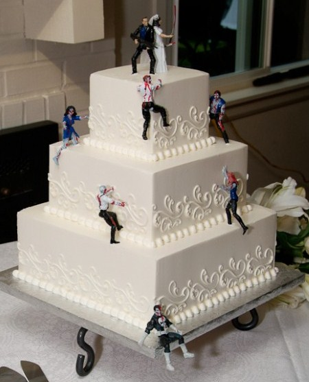 10 Coolest Zombie Wedding Cakes Oddee