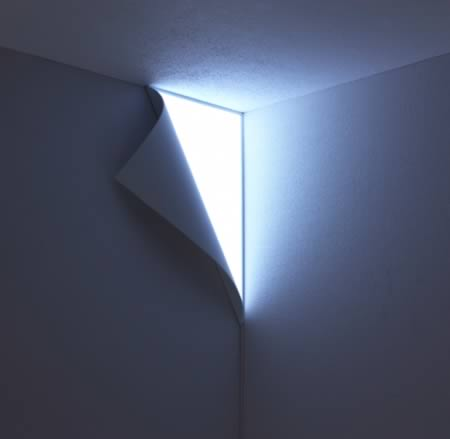 This wall light actually looks like it's peeling away from the wall. Which  is probably (duh) why they call it the Peel Light. Now before you start  clearing ...