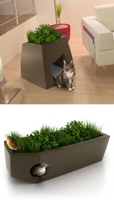 chic cat furniture. Delighful Cat Jardin Chic Is Showing That Pet Friendly Furniture Can Also Be U201cchicu201d Take  A Look At These Planters With Dual Functions They Serve As Green Spaces And  For Cat Furniture