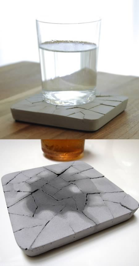 10 coolest gadgets and furniture made of concrete for How to make concrete coasters