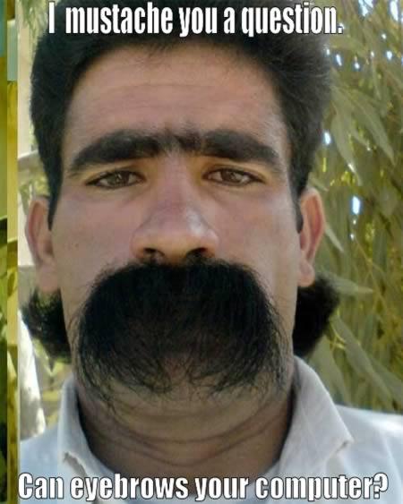 Ironic facial hair