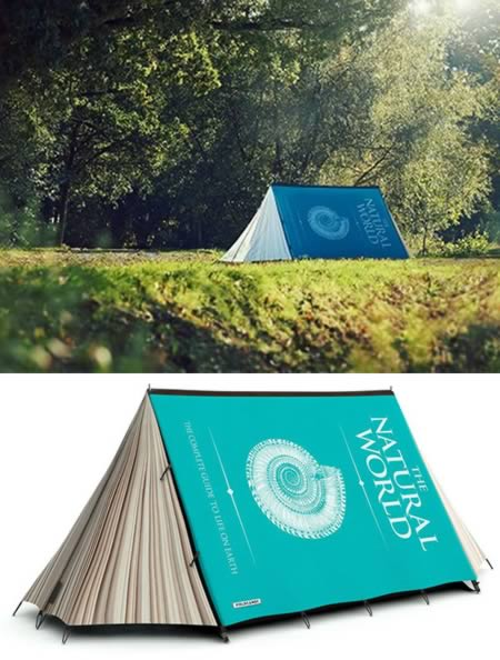 1Book Tent & 10 Coolest Camping Tents - cool camping cool tents - Oddee