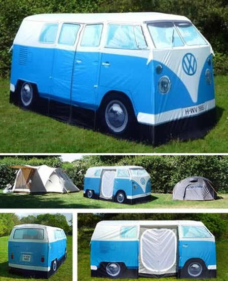 2VW C&er Van Tent & 10 Coolest Camping Tents - cool camping cool tents - Oddee