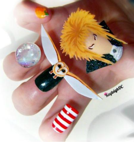 12 Geekiest Nail Designs Cool Nail Designs Nail Geek Oddee