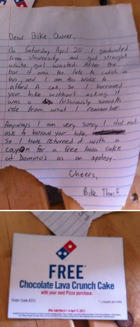 10 Funniest Apology Notes Oddee