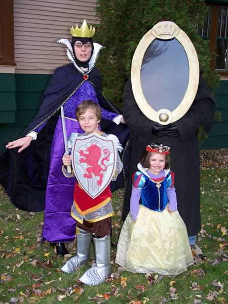 This Snow White Group Costume is perfect for a family of four including the Witch/Queen The Magic Mirror the Prince and Snow White herself.  sc 1 st  Oddee & 12 Coolest Family Costumes - Oddee
