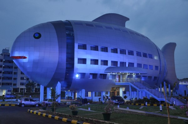 cool office buildings. this 4story fish building was constructed in 2012 to function as an office for the national fisheries development rajendranager hyderabad cool buildings