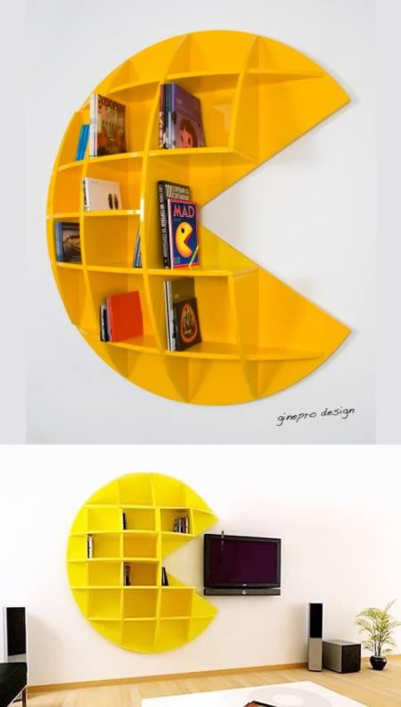 1Pac Man Ghost Bookshelf