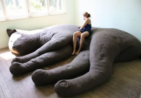 1Giant Stuffed Cat Couch