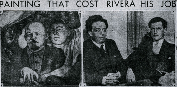 10 controversial works of art that were removed or for Diego rivera rockefeller center mural