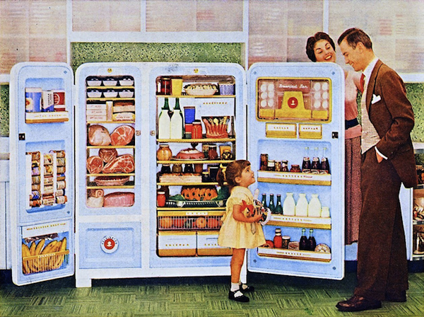 The 1950s Era Kelvinator Foodarama Refrigerator Is One Stunning Vintage  Appliance, And Is One Of Earliest Side By Side Refrigerators Ever Produced.