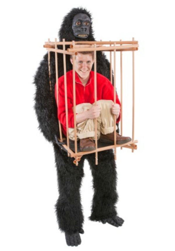 5Gorilla With A Man In A Cage  sc 1 st  Oddee & 15 Fun Halloween Costumes That Use Fake Legs to Create An Illusion ...