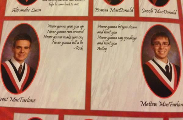 10 Hilarious Twins In Yearbooks Yearbook Senior Quote