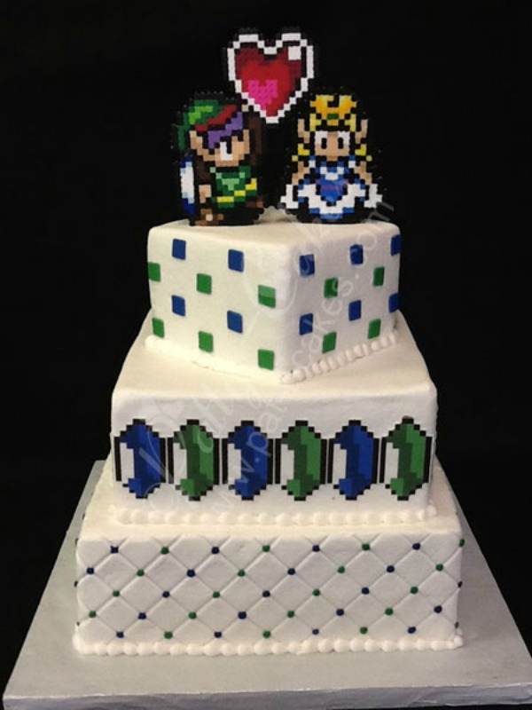 10 Wonderful Wedding Cakes Inspired By Video Games Cakes