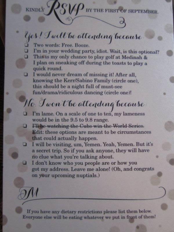 10 hilarious rsvp cards oddee