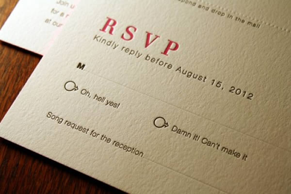 10 Hilarious RSVP Cards Oddee – Funny Wedding Rsvp Card Wording
