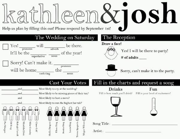 10 Hilarious RSVP Cards Oddee – Funny Wedding Response Card Wording