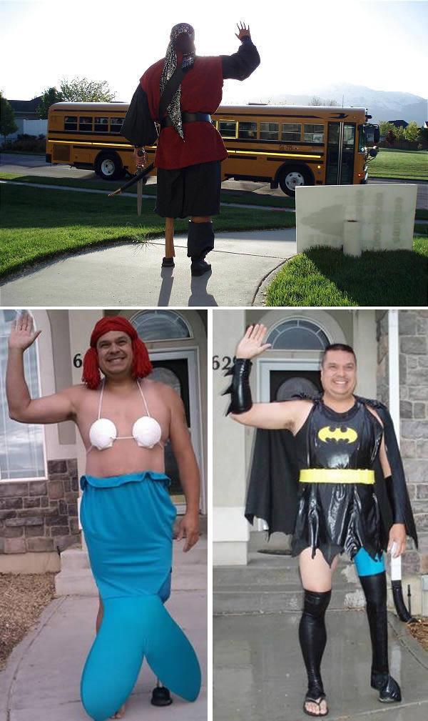 in humiliating costumes teen put
