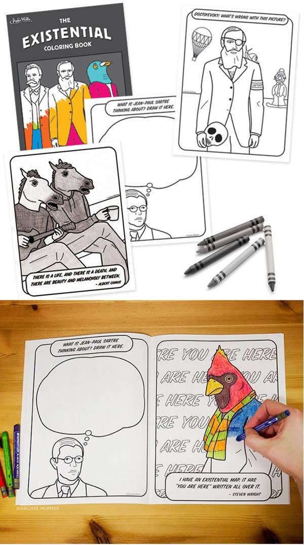 Archie McPhee Is Selling The Existential Coloring Book A 24 Page And Activity Sure It Wont Answer Ever Burning Questions Of WHY