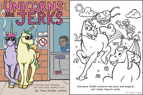 5Unicorns Are Jerks Coloring Book