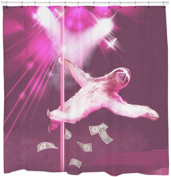 2Stripper Sloth Shower Curtain