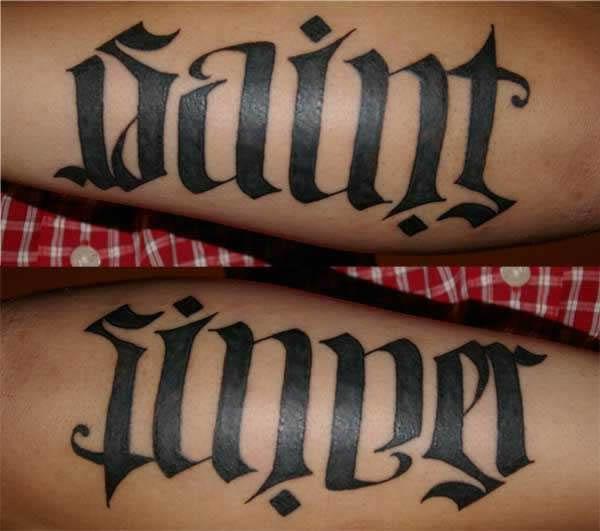 10 Coolest Ambigram Tattoos Oddee